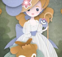 Marie Antoinette and Skiddo Sticker