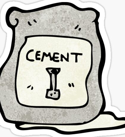 cartoon bag of cement Sticker