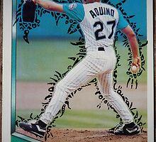 245 - Luis Aquino by Foob's Baseball Cards