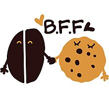 Coffe and Cookie Best friend forever Photographic Print