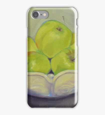 """Green Apples"" in Oil iPhone Case/Skin"