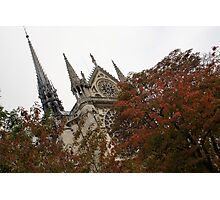 Cruising Down the Seine River and Catching a Glimpse of Notre-Dame de Paris Photographic Print