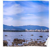 Kits Beach Pano - middle Poster
