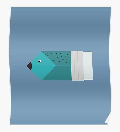 Pencil or fish? Poster