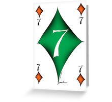 Lucky No.7 of Diamonds by Tony Fernandes Greeting Card