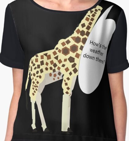 Giraffe - How's the Weather Down There Chiffon Top