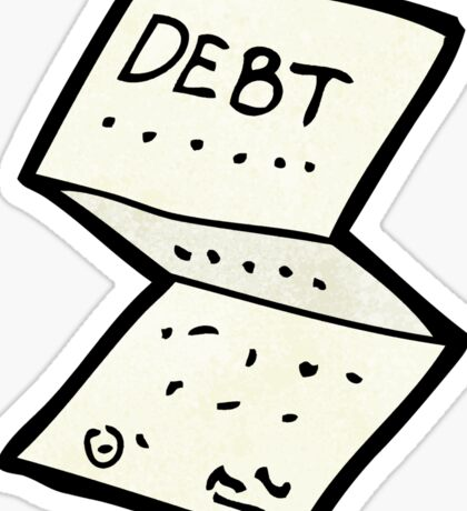 cartoon financial letter in post Sticker