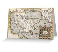 Middle East - Mercator - 1584 Greeting Card