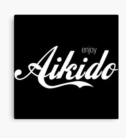 Enjoy Aikido (White) Canvas Print