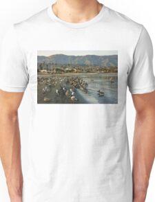 Santa Barbara Sunset Crowd on the Beach Unisex T-Shirt