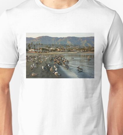 Santa Barbara Sunset Crowd on the Beach Unisex T-Shirt