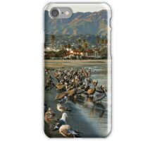 Santa Barbara Sunset Crowd on the Beach iPhone Case/Skin