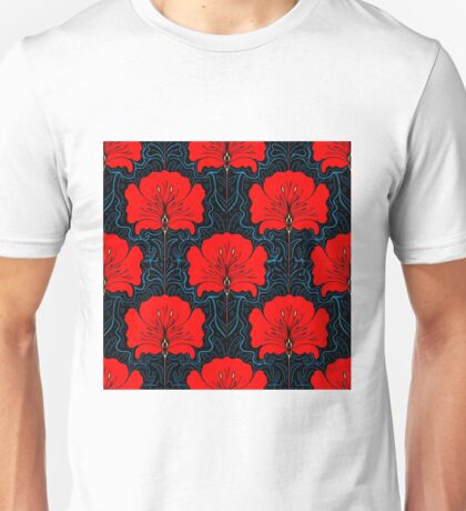 RED FLOWER; Abstract Bright Print Unisex T-Shirt