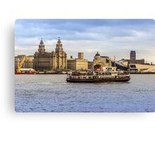 Ferry cross the Mersey Canvas Print