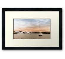 Boating at Forster 01 Framed Print