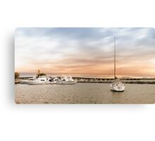 Boating at Forster 01 Canvas Print