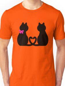 Cute Black Cat Red Heart Girlfriend Boyfriend Gifts Unisex T-Shirt