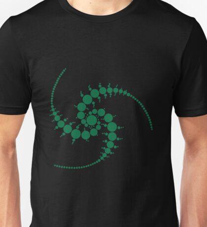 Spiral green crop circle  Unisex T-Shirt