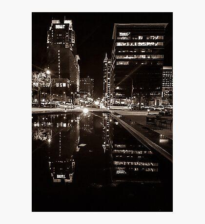 Night Time City Lights Photographic Print