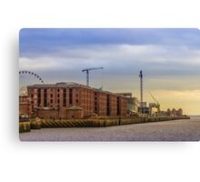 Albert Dock from the River Mersey Canvas Print