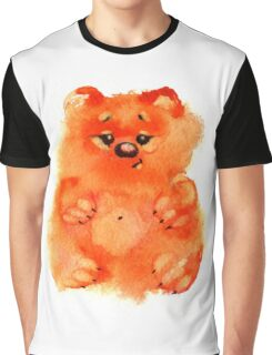 Watercolor sweet orange bears on white background Graphic T-Shirt