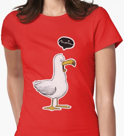 Kleine Möwe - Moin! |Katz & Tinte Womens Fitted T-Shirt