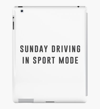 Sunday Driving iPad Case/Skin