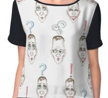 Considering the idea pattern. Head with lamp Chiffon Top