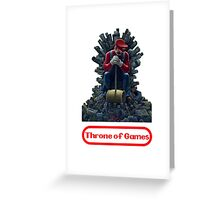 Throne of games Greeting Card