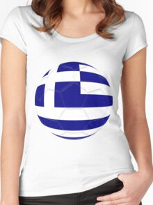 Greece Women's Fitted Scoop T-Shirt