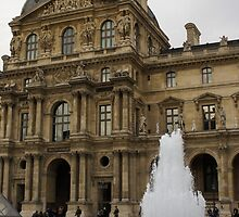 Of Pale Pastels and Palaces - the Louvre Courtyard in Paris by Georgia Mizuleva