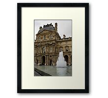 Of Pale Pastels and Palaces - the Louvre Courtyard in Paris Framed Print