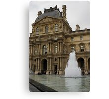 Of Pale Pastels and Palaces - the Louvre Courtyard in Paris Canvas Print