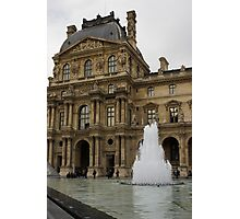 Of Pale Pastels and Palaces - the Louvre Courtyard in Paris Photographic Print