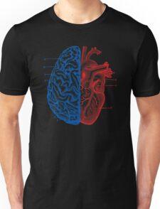 Heart and Brain Unisex T-Shirt