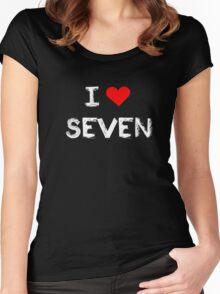I love Seven , Mystic Messenger  Women's Fitted Scoop T-Shirt