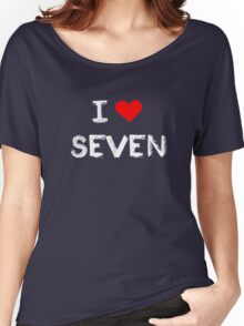 I love Seven , Mystic Messenger  Women's Relaxed Fit T-Shirt