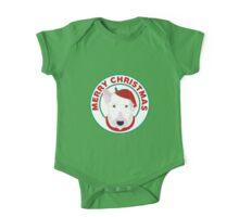 Merry Christmas Bull Terrier One Piece - Short Sleeve