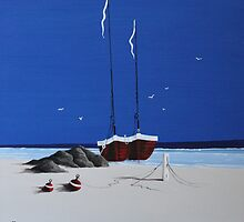 Red Boats by Jan Vinclair
