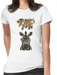 Hipster Zebra Womens Fitted T-Shirt