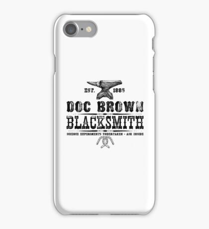 Doc Brown Blacksmith - Back to the Future Inspired Design iPhone Case/Skin