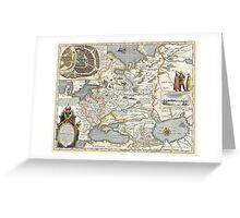 Map of Russia - Hessel Gerrits - 1613 Greeting Card