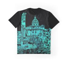 Rome - The Imperial Forums in Blue Graphic T-Shirt