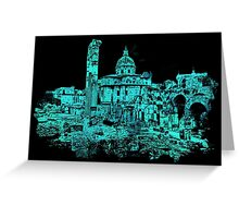 Rome - The Imperial Forums in Blue Greeting Card