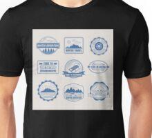 Winter Adventure Badges Set Unisex T-Shirt