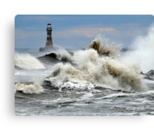 The Angry Sea - Roker Pier Sunderland Canvas Print