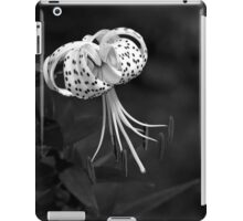 Turk's Cap Lily In Black And White iPad Case/Skin