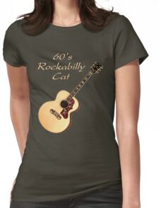 60's Rockabilly Cat  Womens Fitted T-Shirt
