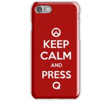 Keep calm and press Q iPhone Case/Skin