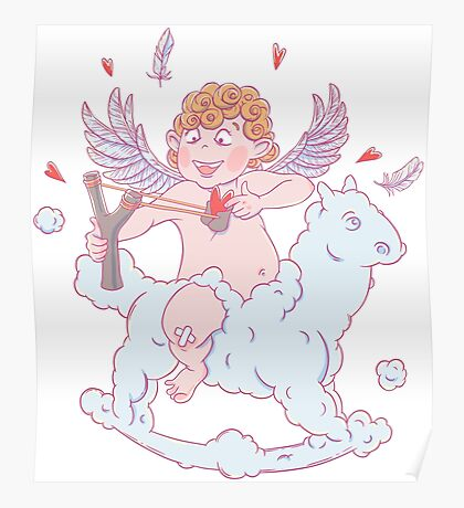 Valentine's day. Funny Cupid  Poster